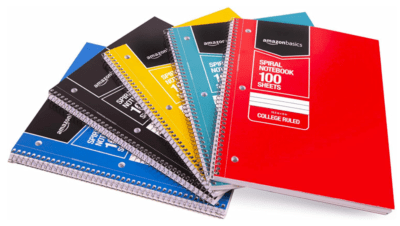Math notebooks for middle school math