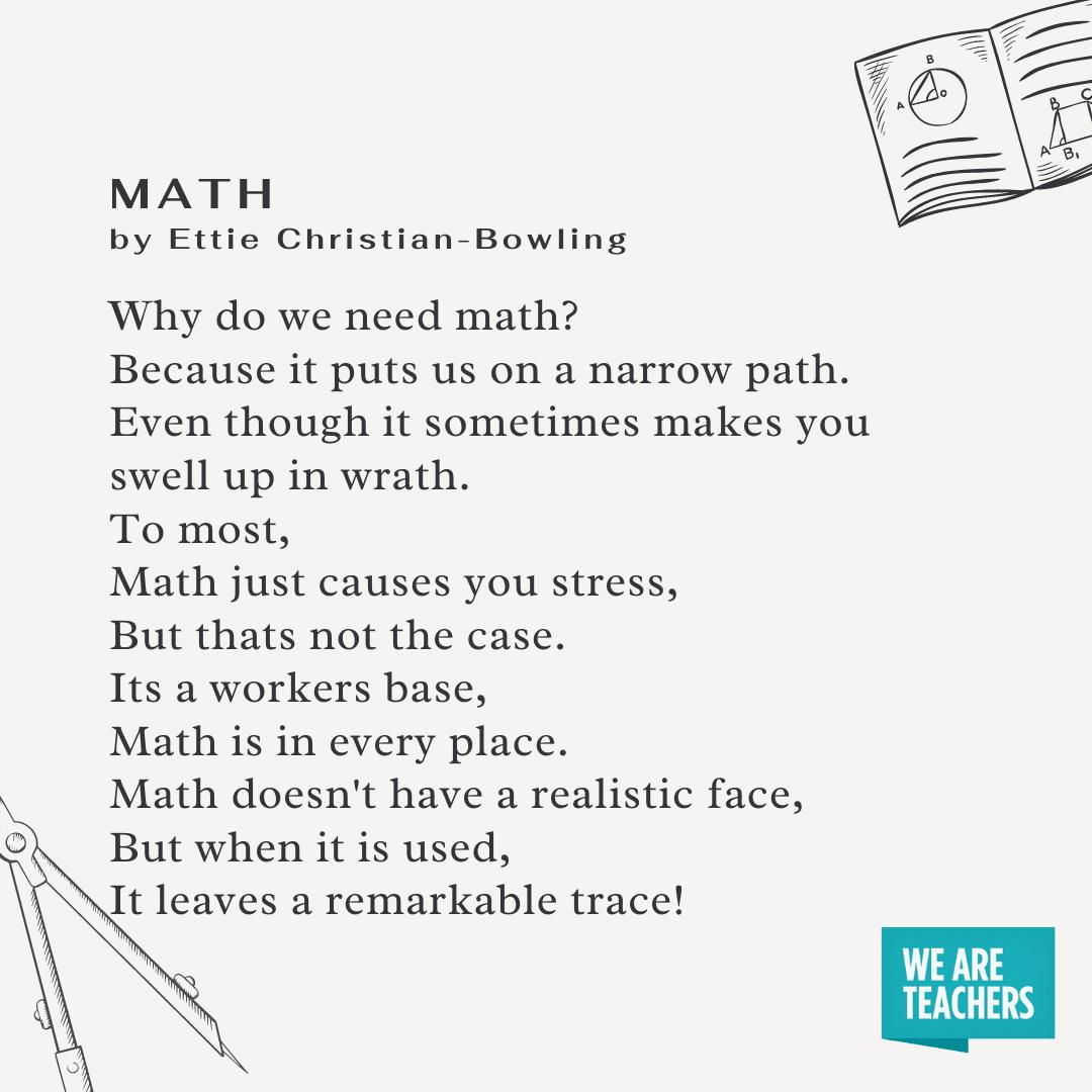 قصيدة الرياضيات