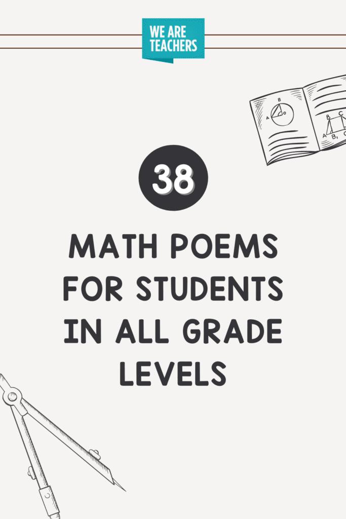 38 قصائد رياضيات للطلاب في جميع مراحل الصفوف