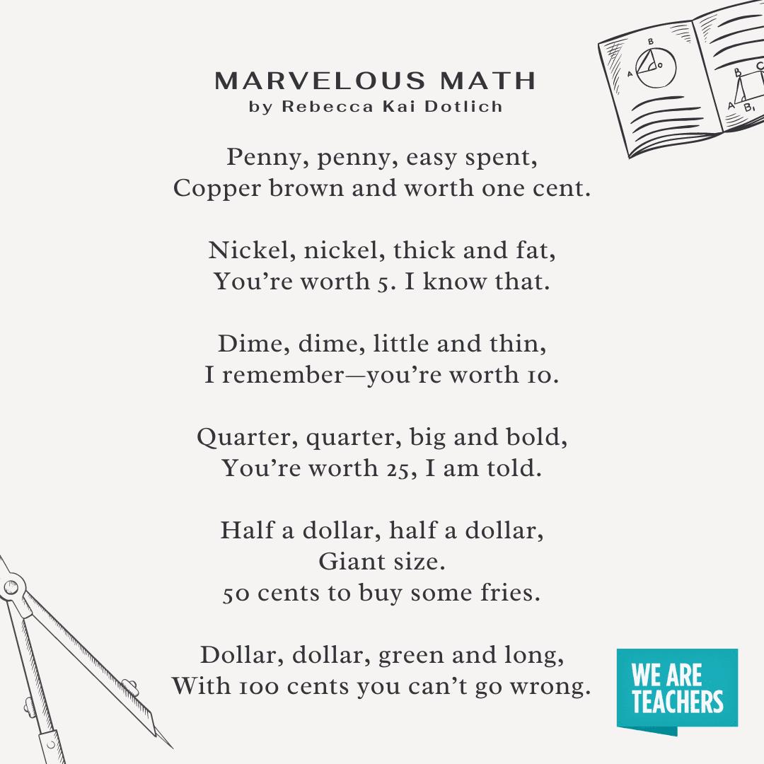 رائع الرياضيات قصيدة