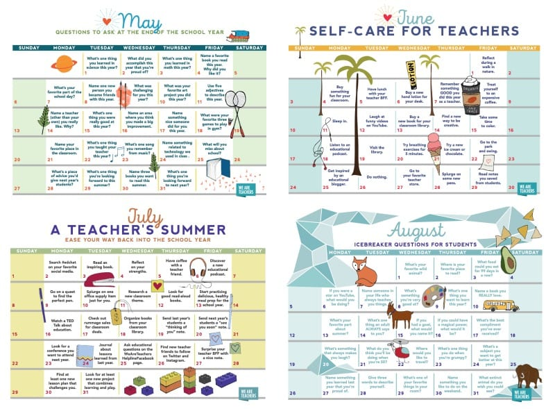 free teacher printable calendar for 2018
