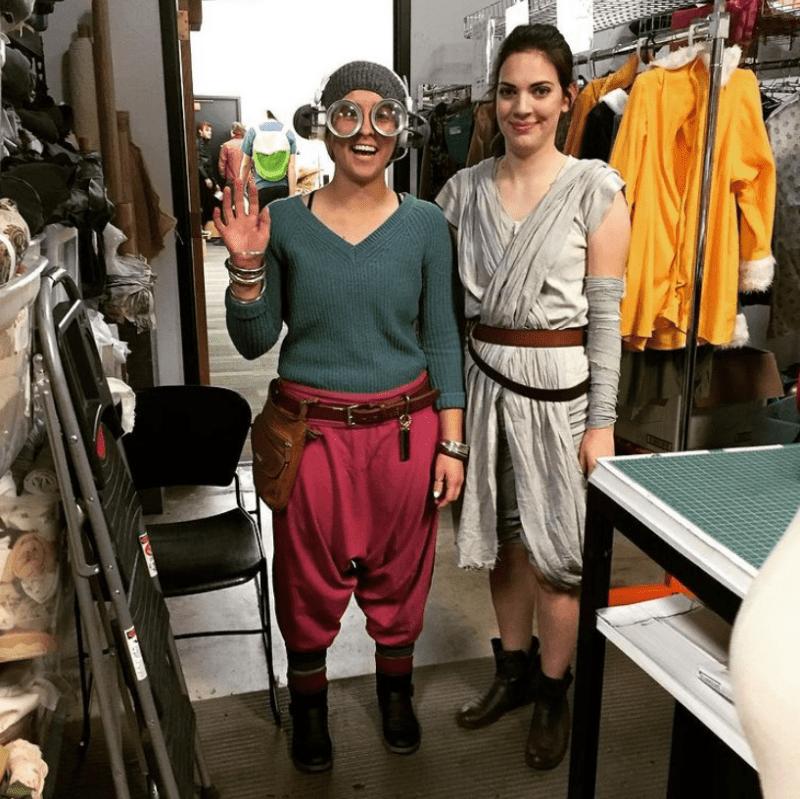 Maz Kanata and Rey Halloween Costume for Teachers