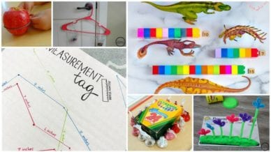Six separate images of measurement activities.