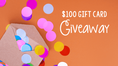 $100 Michigan Teacher Gift Card Giveaway.