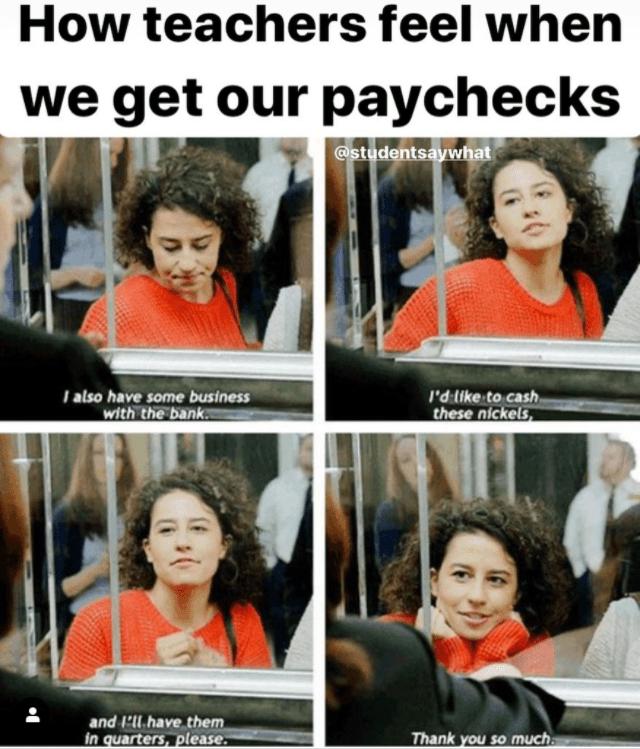 Memes About Teacher Pay