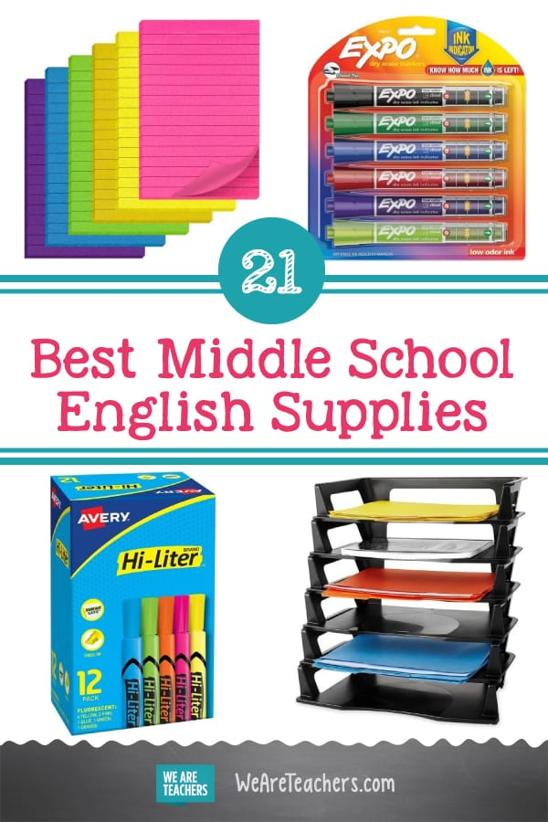 21 Items Every Middle School English Classroom Needs