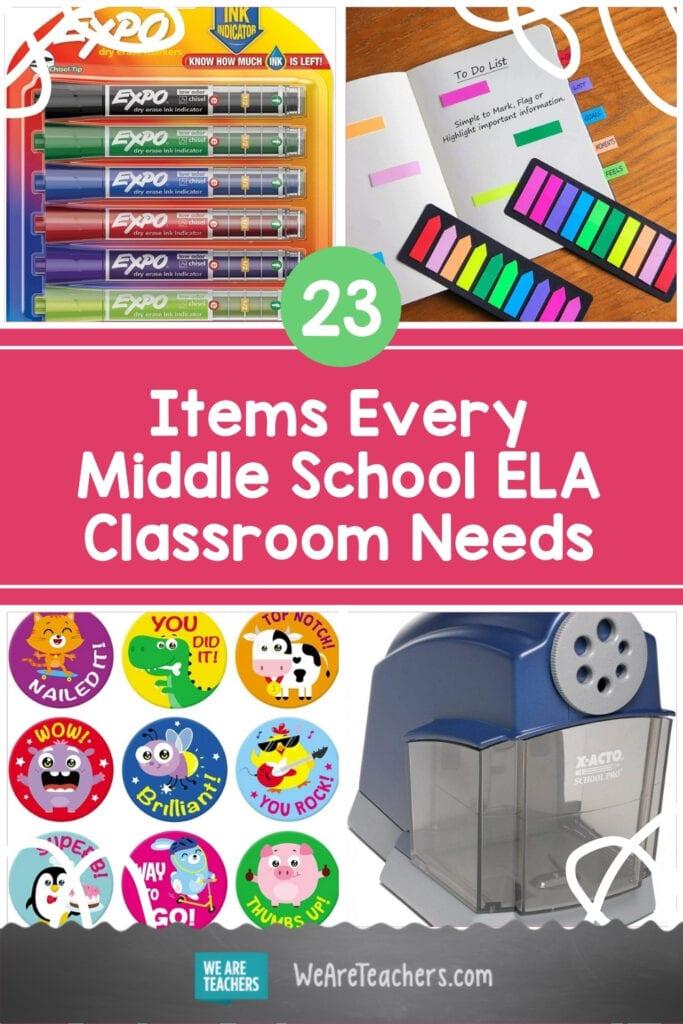 23 Items Every Middle School ELA Classroom Needs