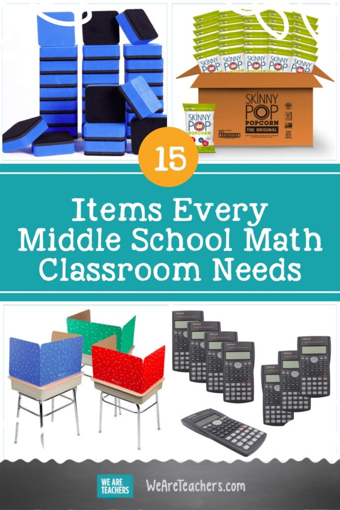 15 Items Every Middle School Math Classroom Needs