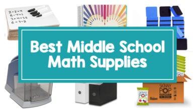 Best middle school math supplies
