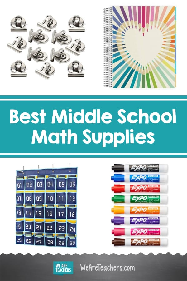 15 Items All Middle School Math Classrooms Need