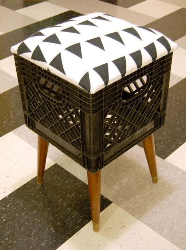 Milk Crate Stool Second Hand Chic