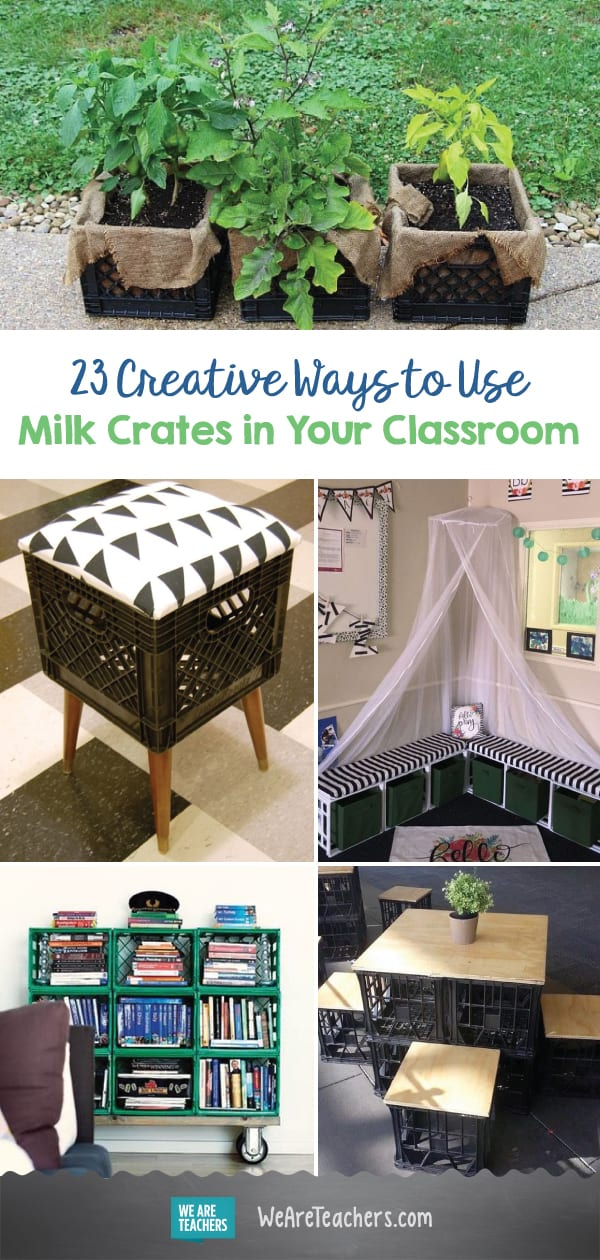 23 Creative Ways to Use Milk Crates in Your Classroom