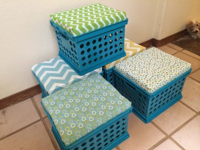 Milk Crates Seats The Apple Tree Room