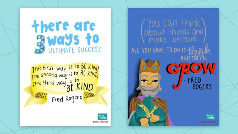 These Printable Posters Feature Our Favorite Mister Rogers Quotes For The Classroom 100iq