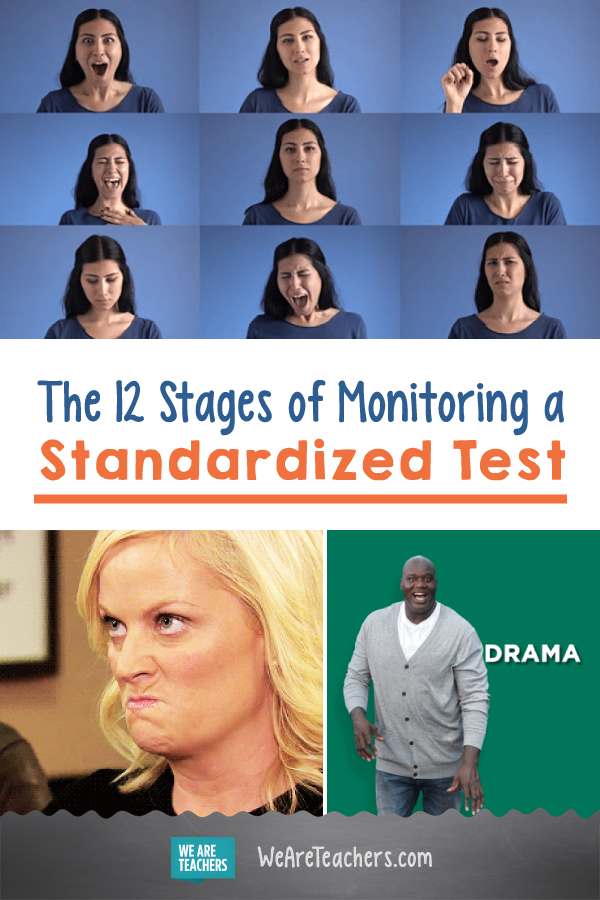 The 12 Stages of Monitoring a Standardized Test