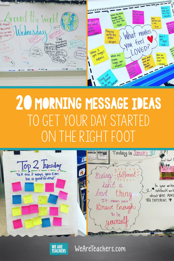 20 Morning Message Ideas to Get Your Day Started on the Right Foot