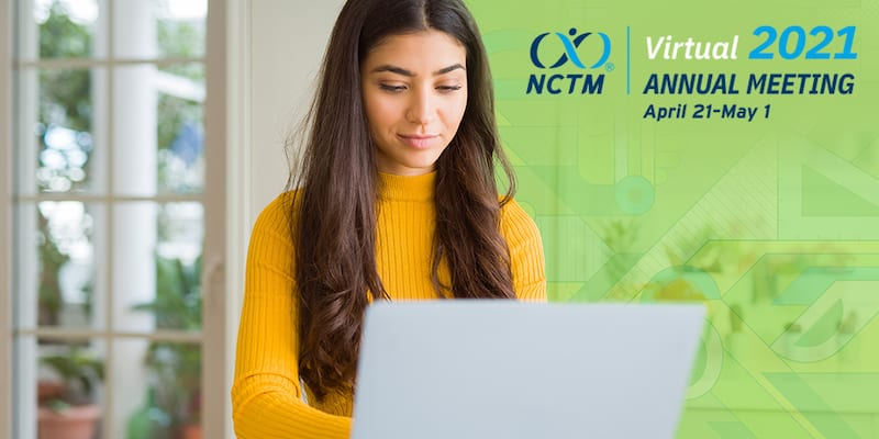 A picture of a Math teacher attending NCTM's Moving Forward Virtual Annual Meeting