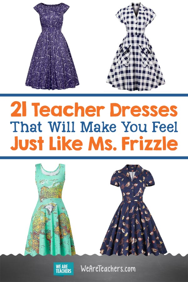 d7079e6560 21 Teacher Dresses That Will Make You Feel Just Like Ms. Frizzle