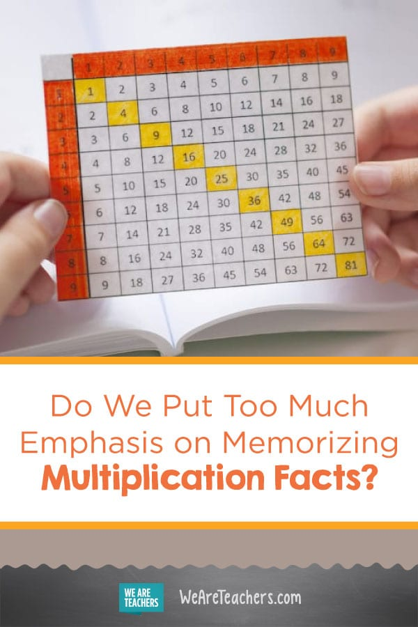 Do We Put Too Much Emphasis on Memorizing Multiplication Facts?