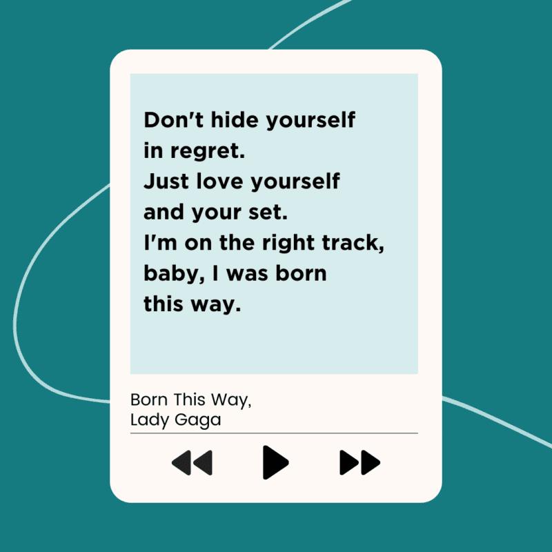 Lady Gaga Lyrics for clean classroom playlist