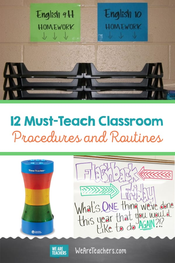 12 Must-Teach Classroom Procedures and Routines
