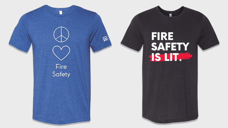 Fire Safety T-Shirts Giveaway