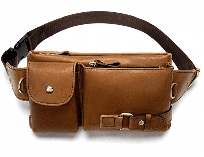 leather teacher fanny pack