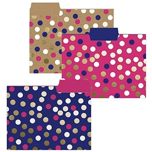 Navy Dots - 19 File Folders That Will Make You Feel Organized