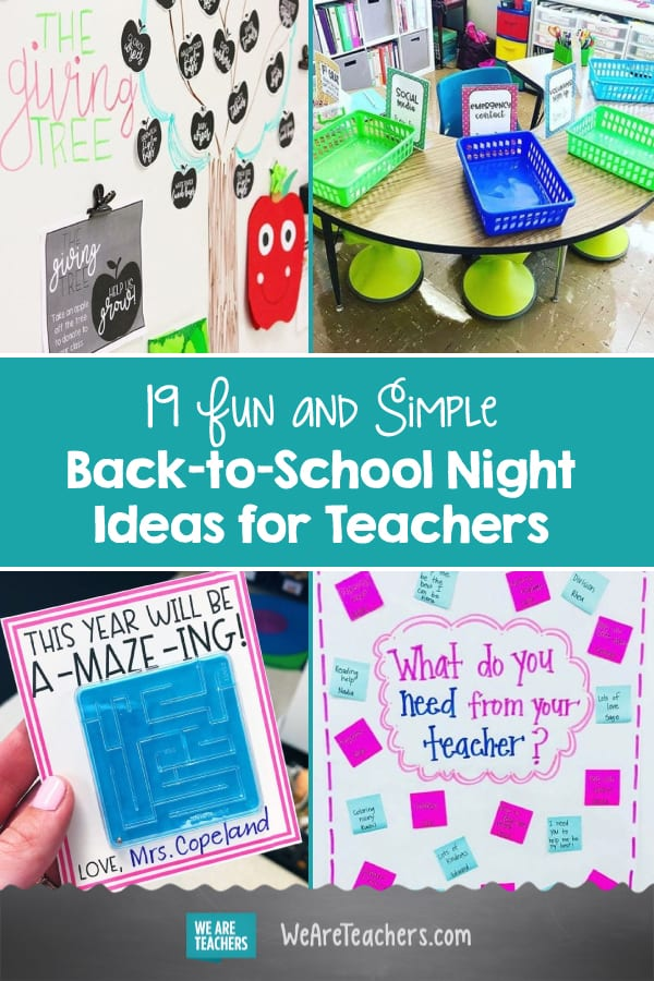 19 Fun and Simple Back-to-School Night Ideas for Teachers