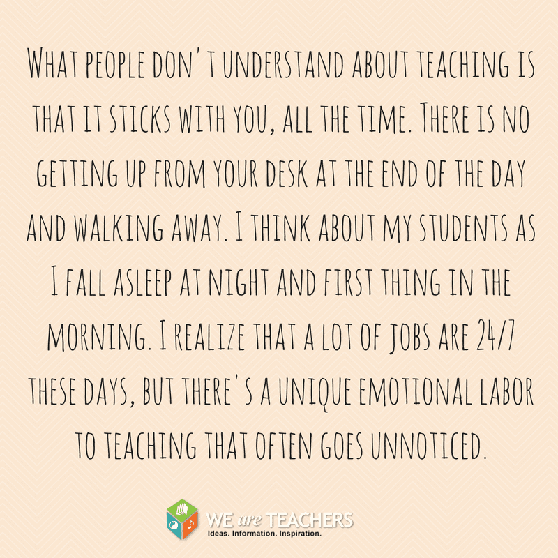 Teaching is 24/7