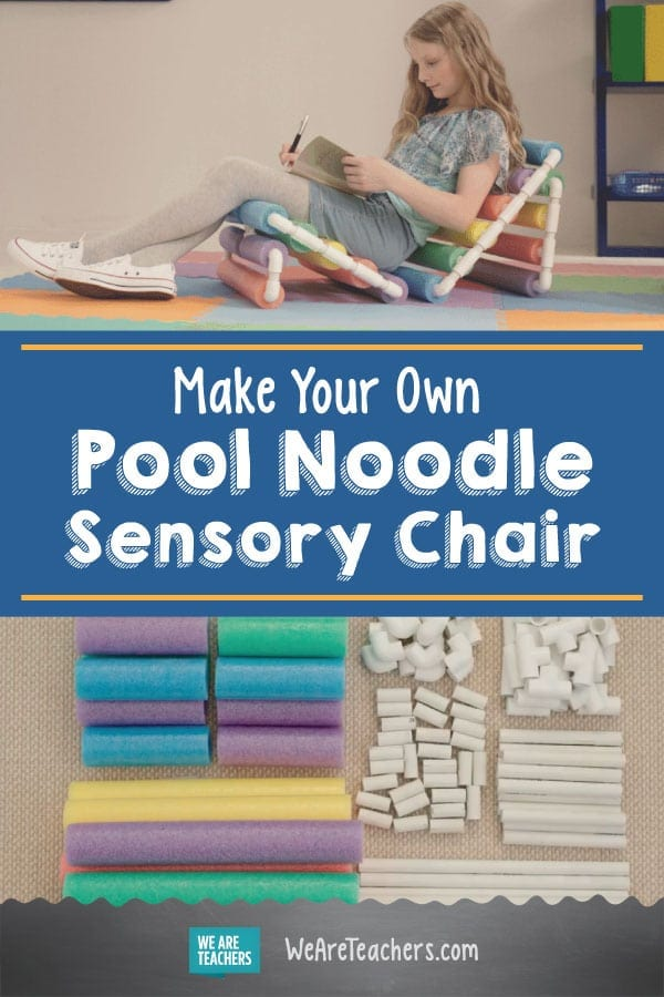 Make Your Own Pool Noodle Sensory Chair