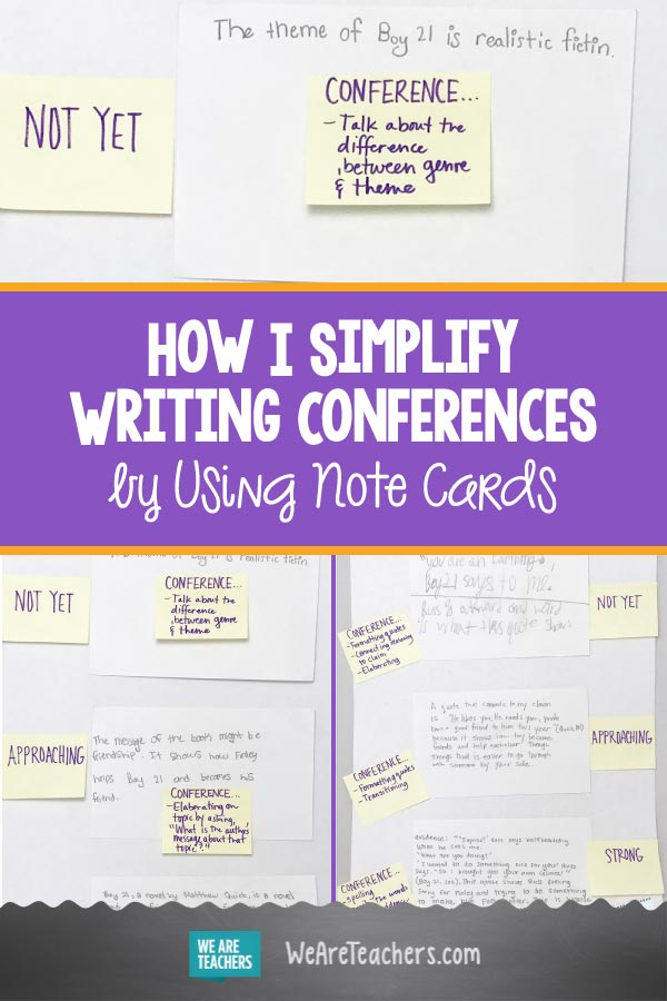 How I Simplify Writing Conferences by Using Note Cards