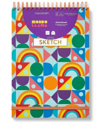 Rainbow notebook from Target