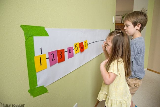 Number Line Activities Busy Toddlers