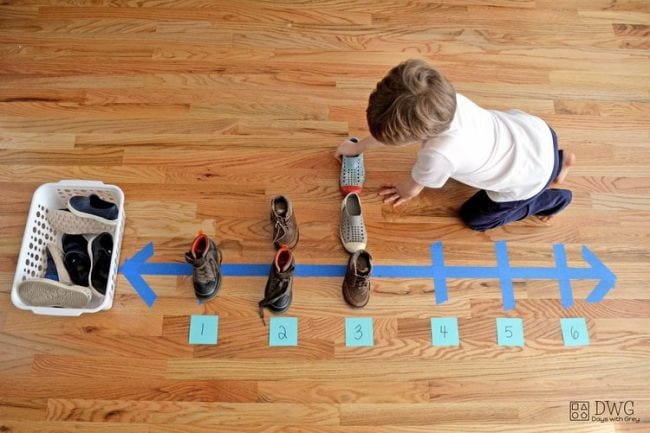 Number Line Activities Days With Grey
