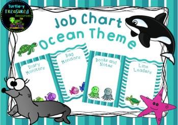 Ocean theme job chart