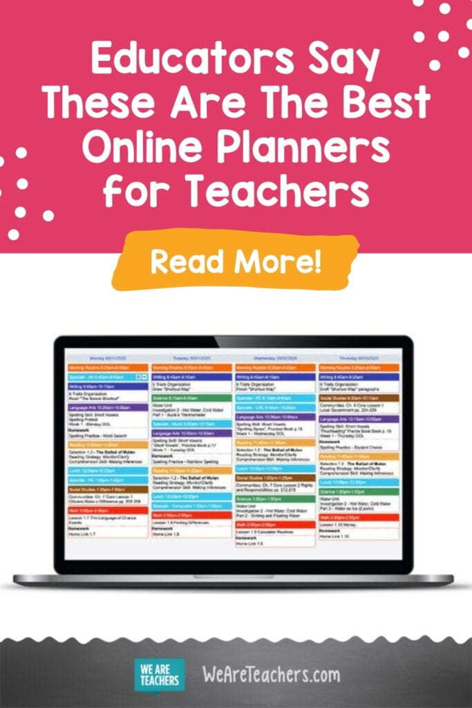 Educators Say These Are The Best Online Planners for Teachers
