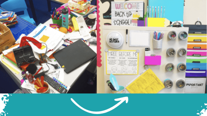 17 Organization Tips for Your Teacher Desk to Calm the Clutter