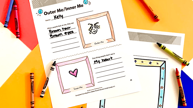 Outer Me, Inner Me, a diversity activity for grades 4-5