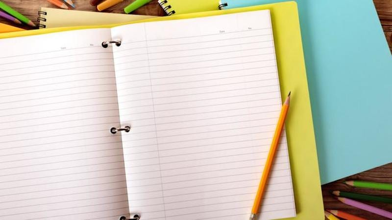 notebook and pencil - Earth Day Activities