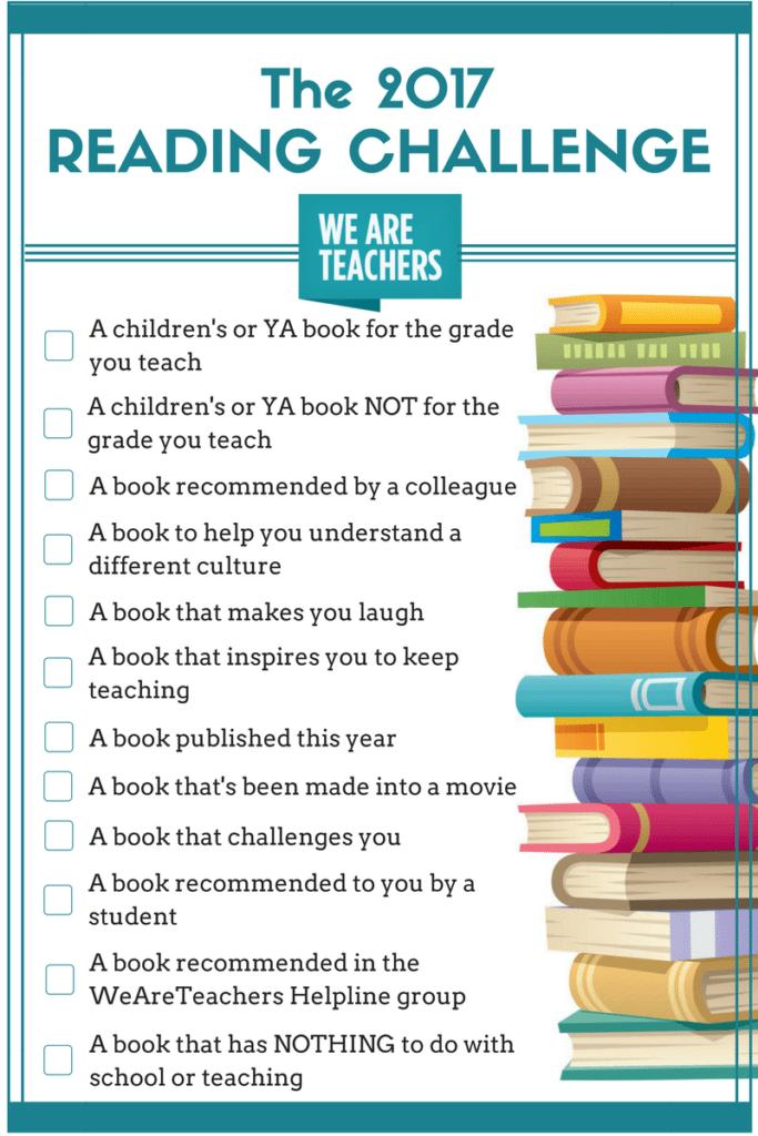 The WeAreTeachers 2017 Reading Challenge