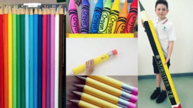 Make Giant Pool Noodle Pencils