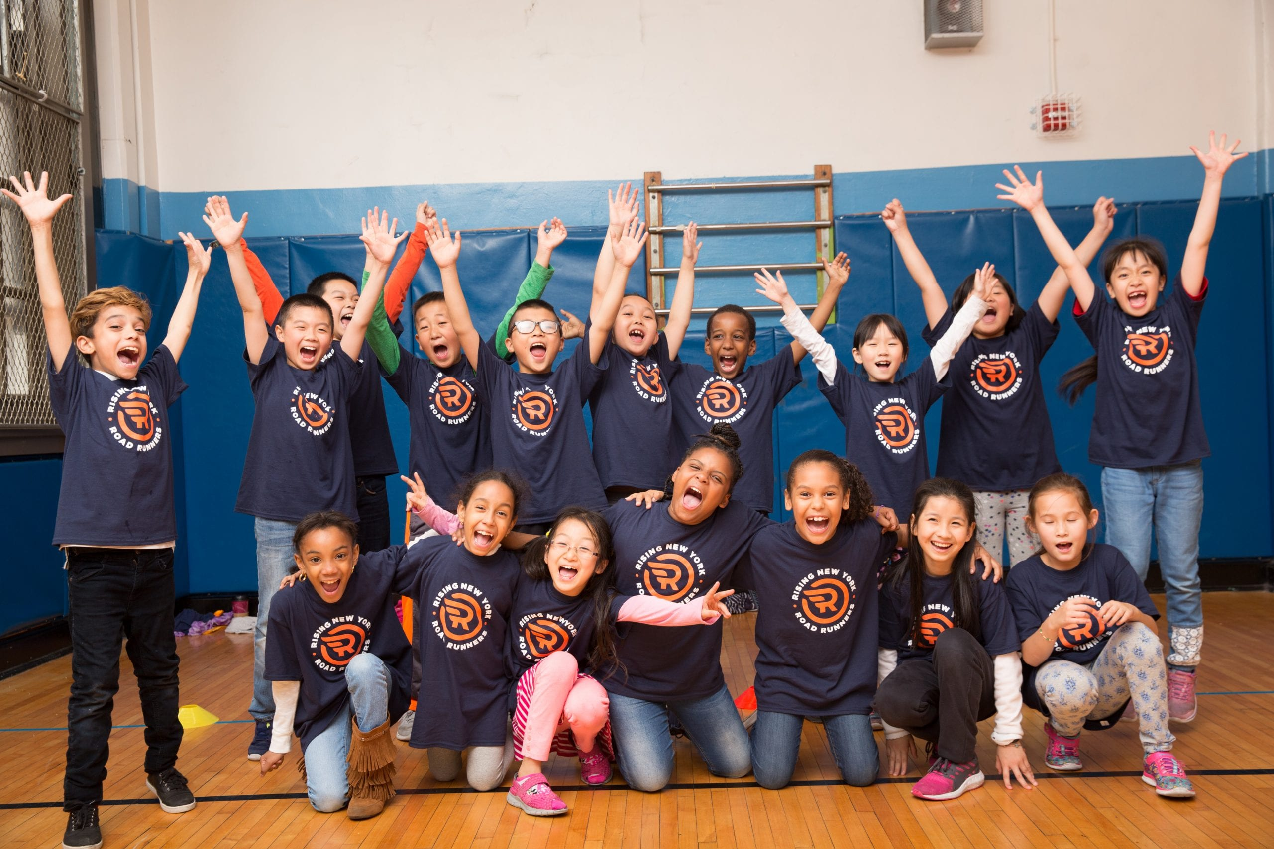Rising New York Road Runners (RNYRR) at P.S. 1 Alfred E. Smith School.