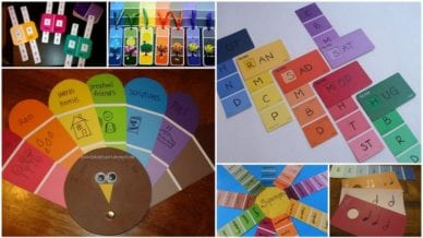 Paint Chip Crafts WeAreTeachers
