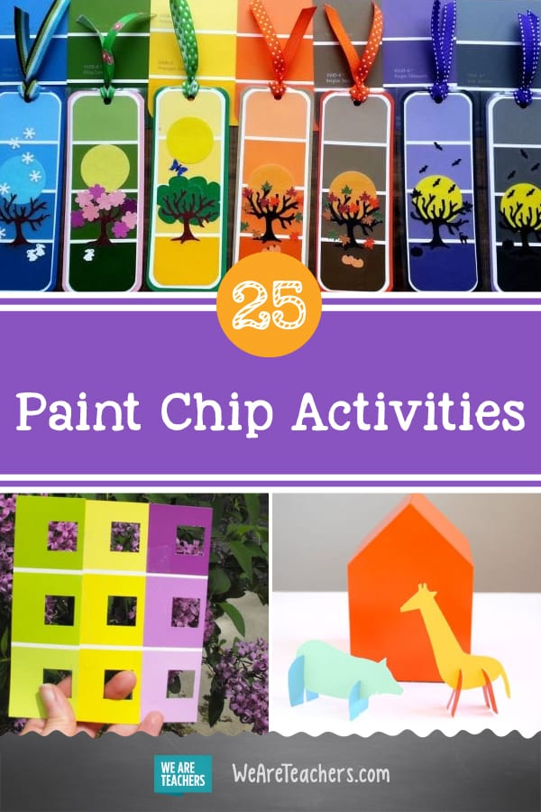25 Colorful and Cool Paint Chip Crafts and Learning Activities