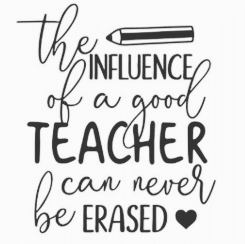 Recall your influence -- retirement quotes for teachers