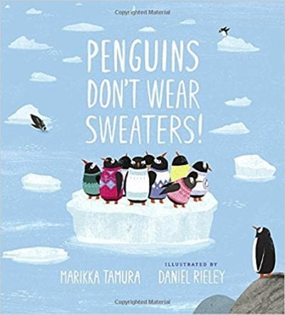 Book cover for Penguins Don't Wear Sweaters!