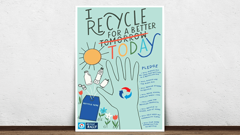 I recycle for a better today