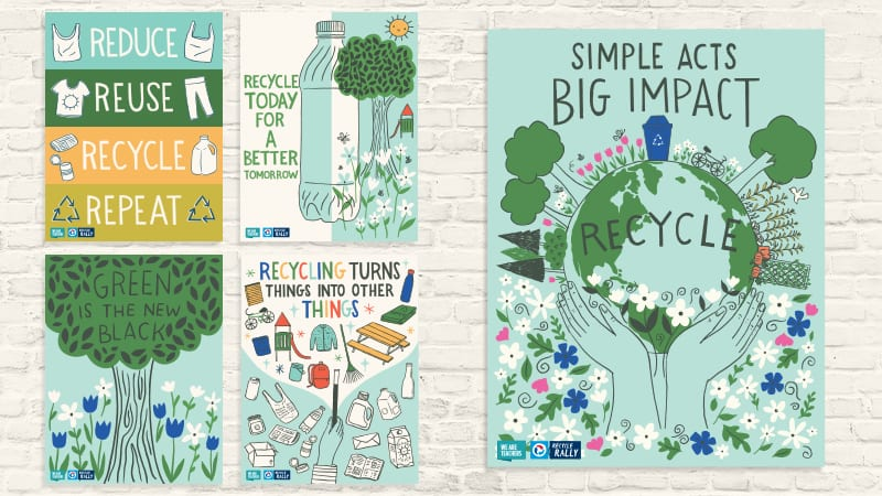 FREE Recycling Posters for Your Classroom - Save and Print for Free