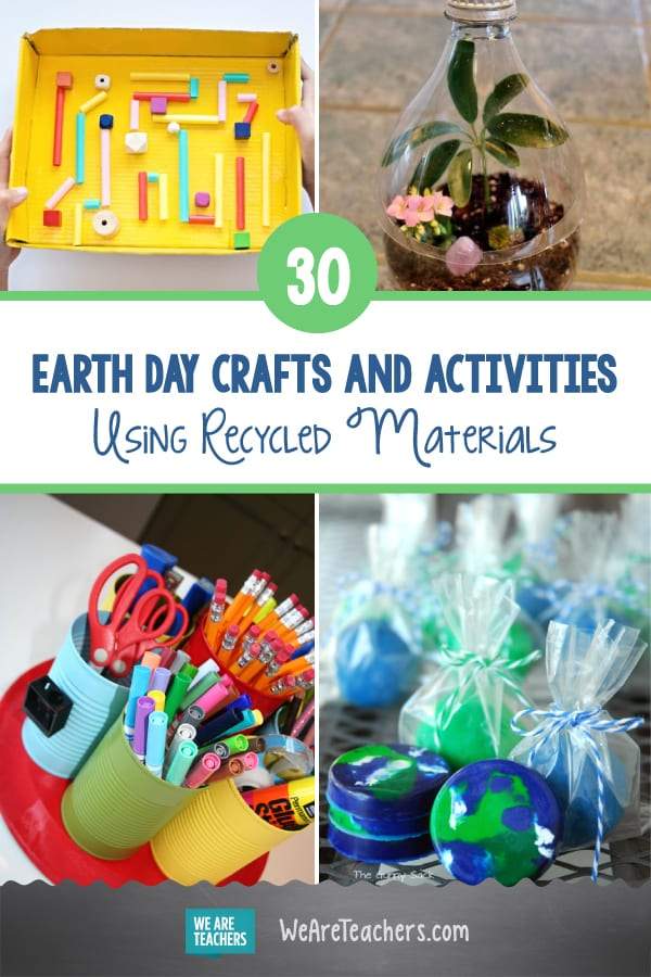 30 Earth Day Crafts and Activities Using Recycled Materials